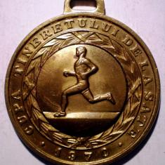 5.628 CUPA TINERETULUI DE LA SATE 1970 UTC LOCUL III ATLETISM COMITET JUDETEAN 45mm - Medalii Romania