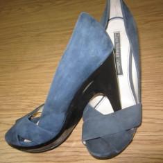 VAND PANTOFI ZARA - Pantof dama, Culoare: Albastru, Marime: 38