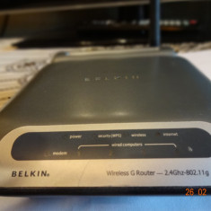 Router G wireless Belkin F5D7230-4, Porturi LAN: 4, Porturi WAN: 1