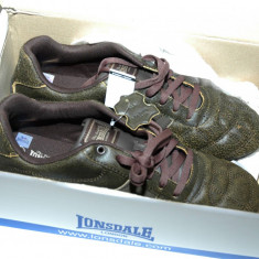 Pantofi sport Londsdale Camden 45 / 10.5 - Adidasi barbati Lonsdale, Marime: 44, Culoare: Maro, Piele naturala