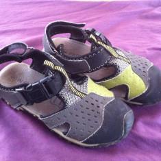 Sandale copii mar.31, Culoare: Gri, Unisex, Piele naturala