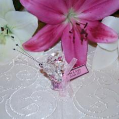 Marturii nunta/botez Fluture cristal model deosebit CEL MAI MIC PRET DE PE PIATA, fluturas, fluturi sticla marturie
