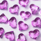 Cristale inimioare, Lila, 30 buc - Decoratiuni nunta