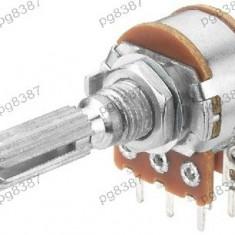 Potentiometru rotativ 100K, liniar, stereo - 161015