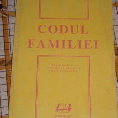 RWX 10 - CODUL FAMILIEI - EDITAT IN 1993 - Carte Dreptul familiei
