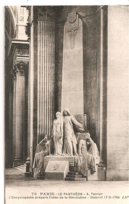 CPI (B5126) PARIS. LE PANTHEON - A. TERROIR. L'ENCYCLOPEDIE PREPARE I'IDEE DE LA REVOLUTION - DIDEROT, NECIRCULATA foto
