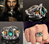 Inel LORD OF THE RINGS  LOTR - Inelul Lui Aragorn - Marimi  : 7,8,9,10