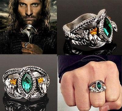 Inel LORD OF THE RINGS  LOTR - Inelul Lui Aragorn - Marimi  : 7,8,9,10 foto
