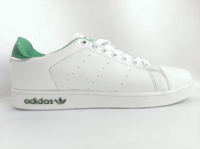 Adidasi Adidas Stan Smith Alb Cu Verde - Galerie foto
