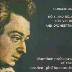 Mozart - CONCERTOS NO. 1 AND NO. 2FOR VIOLIN AND ORCHESTRA CHAMBER ORCHESTRA OD THE ORADEA PHILHARMONIC (DISC VINIL, LP) - Muzica Clasica electrecord