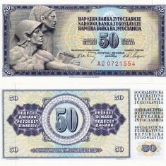 IUGOSLAVIA 50 dinara 1968 UNC!!! - bancnota europa