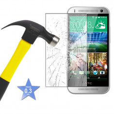 Protectie ecran Folie de sticla Tempered Glass pentru HTC ONE M7 + cablu date - Folie de protectie