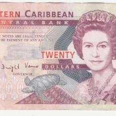 (1) BANCNOTA EASTERN CARIBBEAN - 20 DOLLARS