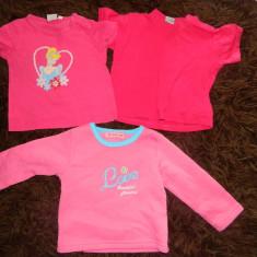 Set de trei produse, doua tricouri si o bluza, marimea 1-2 ani, ideale de casa, de joaca pentru fetite, Culoare: Roz, Fete