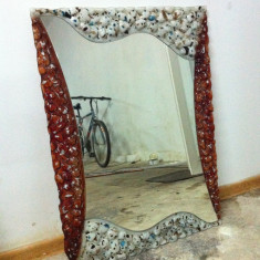 Oglinda pe rama de sticla pictata manual - Oglinda hol