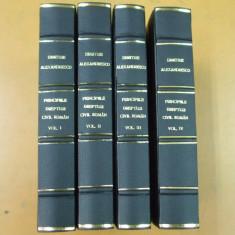 D. Alexandresco Principiile dreptului civil roman 4 volume 1926 - Carte Drept civil