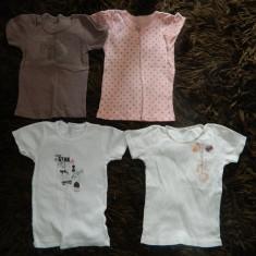 Set de trei tricouri, ideale de corp, de joaca, marimea 2-4 ani, 100% bumbac, Culoare: Din imagine, Fete