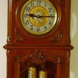 PENDULA GUSTAV BECKER IMPECABILA, AN 1884, (ceas cu pendul de perete, vintage )