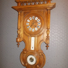 Pendula franceza cu termometru si barometru anul 1850