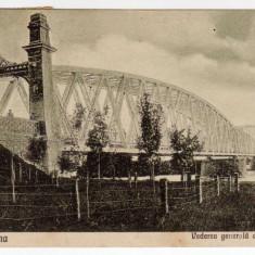 SLATINA PODUL PESTE OLT, VEDEREA GENERALA A PODULUI - Carte Postala Oltenia dupa 1918, Circulata, Printata