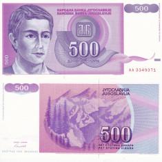 IUGOSLAVIA 500 dinara 1992 UNC!!! - bancnota europa