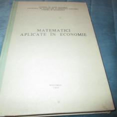 GH. CENUSA - MATEMATICI APLICATE IN ECONOMIE - Teste admitere facultate