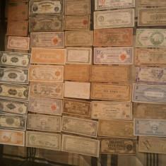 Lot 50 bancnote, Ocupatia Japoneza in Filipine, 1.000 (o mie) roni lotul, taxele postale gratis, nu se vand pe bucati(pretul ar fi fost de 2.000 de roni)