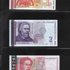 [ Y ] - Bulgaria lot 1, 2, 5 leva 1999, 2005, 1999 UNC !!!
