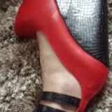 Pantofi noi de dama Giaro platforma!, 37, Rosu, Cu platforma