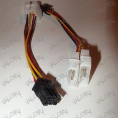 Cablu alimentare adaptor placa video 2x MOLEX la PCI-e 6 pini ( pci express )