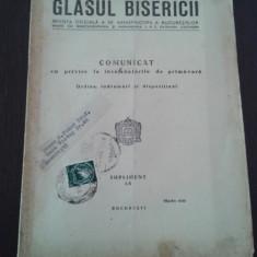 GLASUL BISERICII -- REVISTA OFICIALA A SF. ARHIEPISCOPII A BUCURESTILOR -- Comunicat cu privire la insamantarile de primavara - Martie 1950, 16 p. - Carti bisericesti