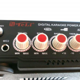 AMPLIFICATOR Mixer Radio FM,KARAOKE, CU MP3 PLAYER si doua porturi microfon