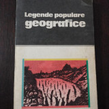 LEGENDE POPULARE GEOGRAFICE - Nicoleta Coatu -- 1986, 237 p. - Carte de calatorie