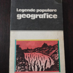 LEGENDE POPULARE GEOGRAFICE  - Nicoleta Coatu -- 1986, 237 p.