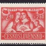 Cehoslovacia 1946 - cat nr.433-5 neuzat, perfecta stare.