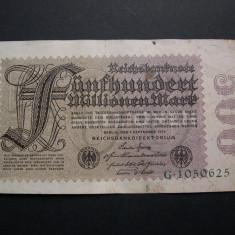 Germania  500 000 000  mark  1923  septembrie 1  Berlin  (500  milioane). Varianta  2  de serie :  litera in serie   G1050