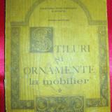 STILURI si ORNAMENTE la MOBILIER - Marina Bucataru, 1991, mobila - Carte veche, Didactica si Pedagogica