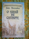 RWX 35 - O SAMA DE CUVINTE - ION NECULCE -  EDITATA IN 1990