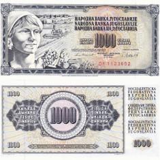 IUGOSLAVIA 1.000 dinara 1981 UNC!!! - bancnota europa