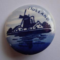 Brosa din portelan olandez Delfts