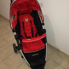 Carucior Ferari - Carucior copii 2 in 1, 1-3 ani, Pliabil, Rosu