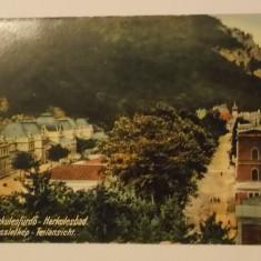 Baile Herculane, Herkulesbad, vedere / ilustrata / carte postala, circulata 1914 - Carte Postala Banat 1904-1918, Printata