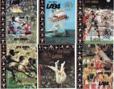 COREEA DE NORD 1983 JOCURILE OLIMPICE LOS ANGELES PREOLIMPIADA - 6 COLITE NEDANTELATE FOARTE RARE