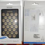 Husa piele Samsung Galaxy Note 3 by Moschino neagra Blister Originala, Negru, Piele Ecologica