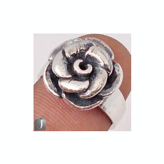 INEL DAMA ARGINT MASIV MODEL TRANDANFIR (INDIA) - Inel argint