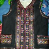 Pieptar traditional barbatesc 2 randuri de flori negru - Costum populare, Marime: 50