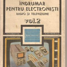 (C5624) INDRUMAR PENTRU ELECTRONISTI DE C. GAZDARU, VOL.2, RADIO SI TELEVIZIUNE, EDITURA TEHNICA, 1987 - Carti Electronica