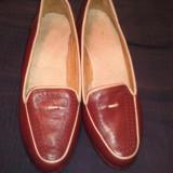 pantofi maro piele dama