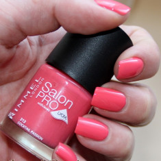 OJA RIMMEL SALON PRO LYCRA NAIL POLISH 313 COCKTAIL PASSION, Roz