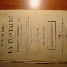 Fabule de la Fontaine, ilustrata, limba franceza, editie 1895, Paris